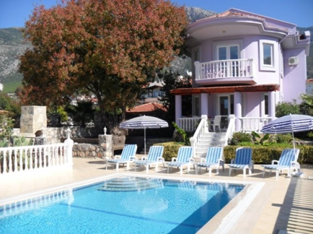 V0006 4 bed detached villa in Ovacik private grounds.